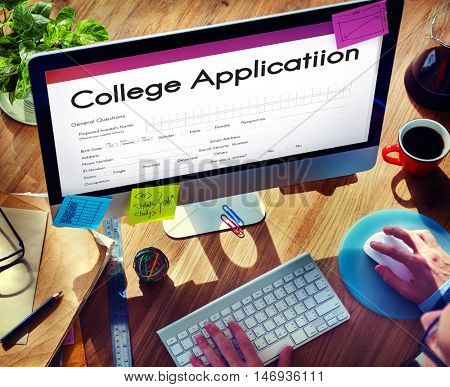 College Application Education Form Concept