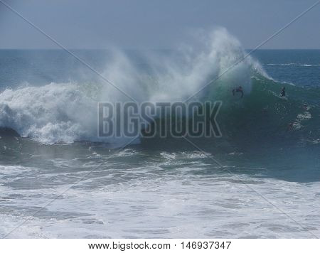 Big waves at The Wedge, Newport Beach, CA.  September, 2011.