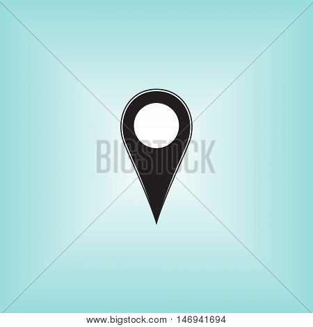 Geolocation vector logo. Map location vector sign. Isolated geo location icon.