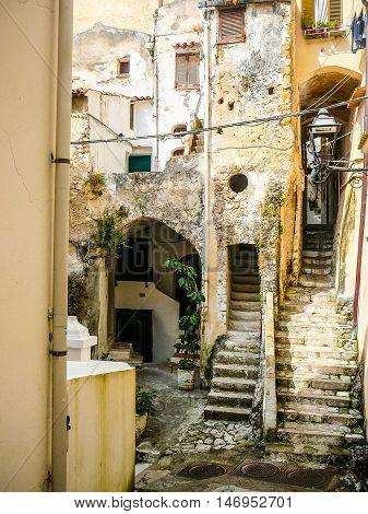 Hdr Sperlonga Coast In Gaeta, Italy