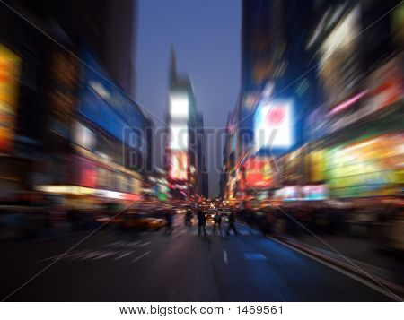 Times square Manhattan New York radial blur poster