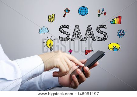 Saas Business Concept