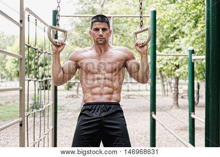 Outdoor Gym Exercising