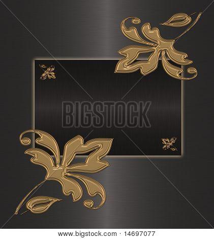 Gold auf dem schwarzen Vintage Hintergrund