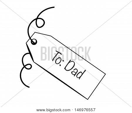 To Dad Happy Fathers Day Gift Tag