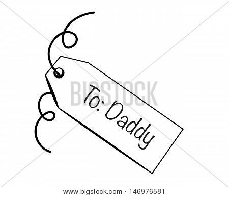 To Daddy Fathers Day Special Gift Present Tag