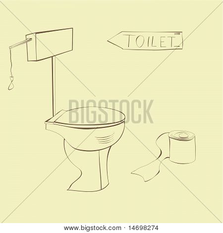 Vector Illustration Of Toilet