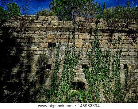 Templar castle in Graus near Zaragoza in Aragon Spain