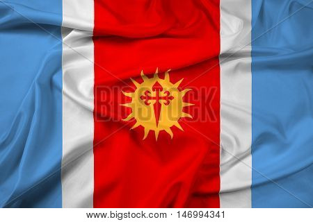 Waving Flag Of Santiago Del Estero Province, Argentina