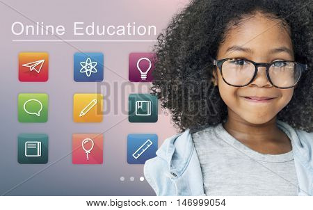 E-learning Online Education Application Concept