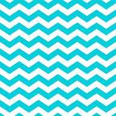 White and aqua zig zag chevron pattern. poster