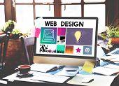 Website Design UI Software Media WWW Concept poster