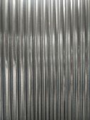 closeup shot of  shiny corrugated galvanized iron poster