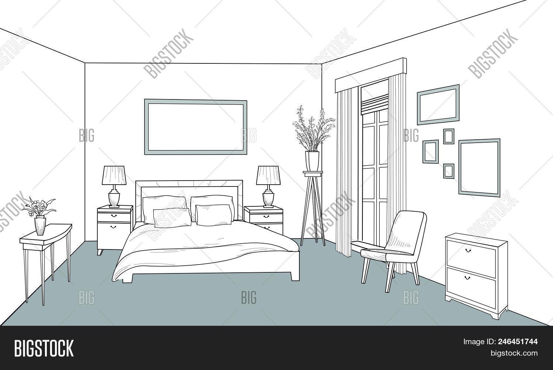 Bedroom Furniture Vector Photo Free Trial Bigstock