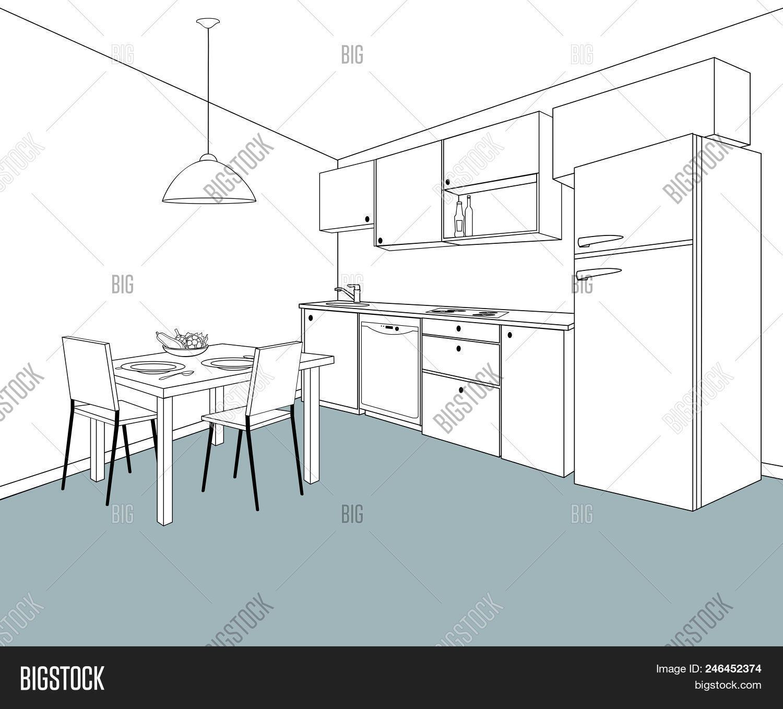 Interior Sketch Vector & Photo (Free Trial) | Bigstock