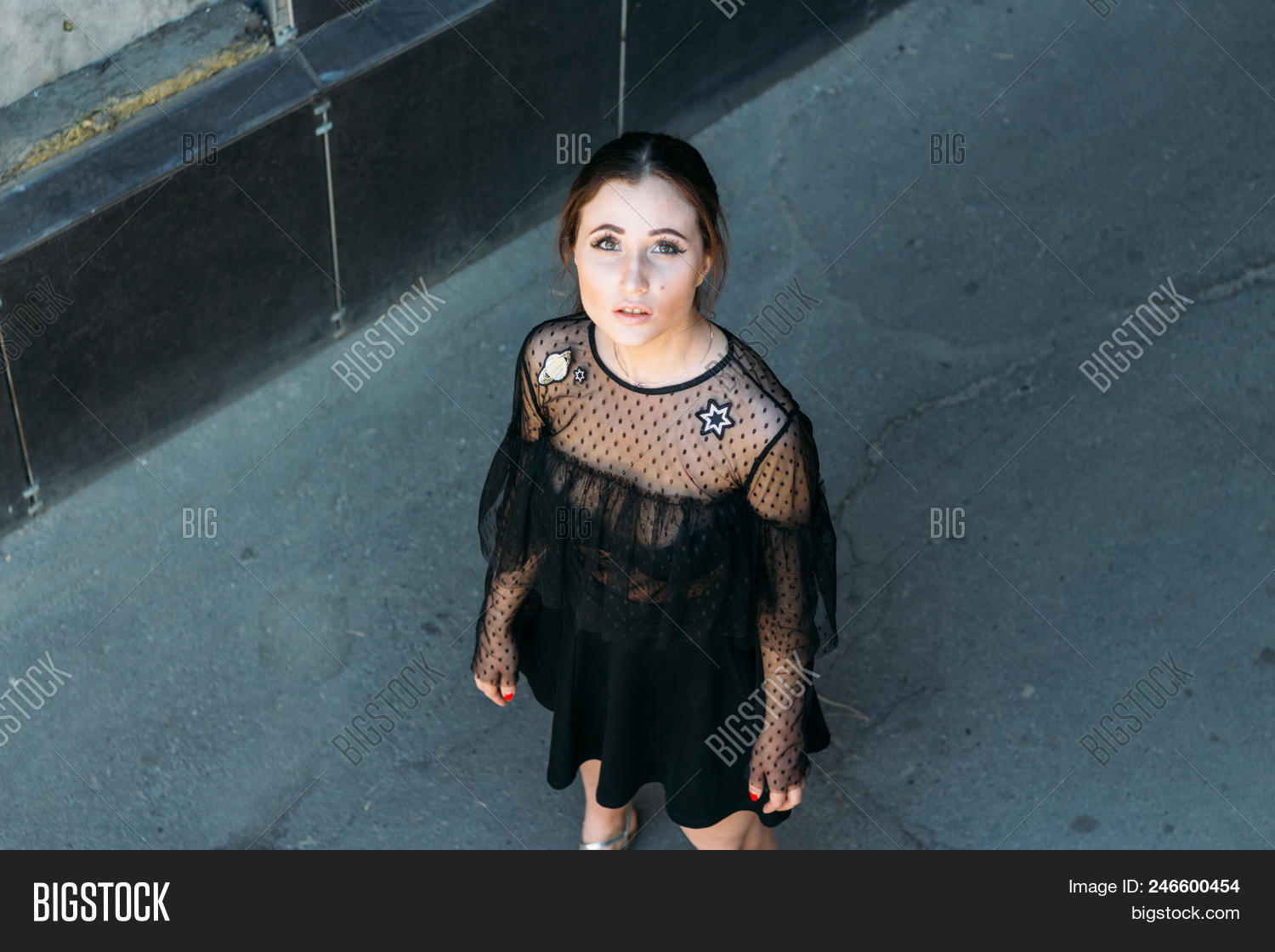 Girl Looks Sky Image Photo Free Trial Bigstock