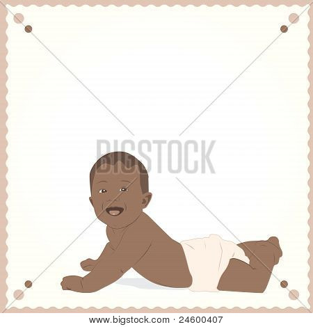 African-American baby postcard.