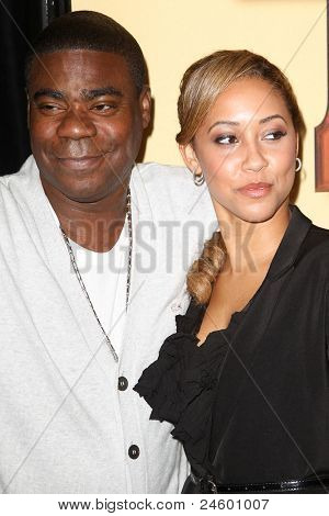 """NEW YORK - OCTOBER 24: Tracy Morgan and Tanisha Hall attend the premiere of """"Tower Heist"""" at the Ziegfeld Theatre on October 24, 2011 in New York City."""