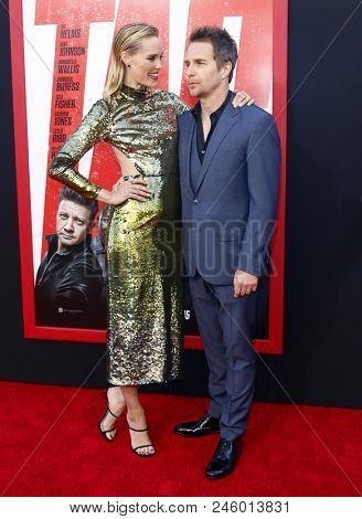 Leslie Bibb and Sam Rockwell at the Los Angeles premiere of 'Tag' held at the Regency Village Theatre in Westwood, USA on June 7, 2018.