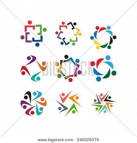 Community People Organization Logo Icon Template Vector