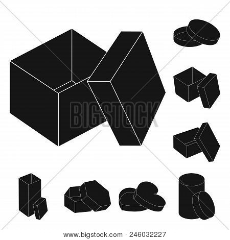 Different Boxes Black Icons In Set Collection For Design.packing Box Vector Symbol Stock  Illustrati