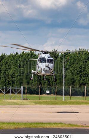 Raf Waddington, Lincolnshire, Uk - July 7, 2014: Royal Navy Fleet Air Arm Westland Lynx Hma.8 (wg-13