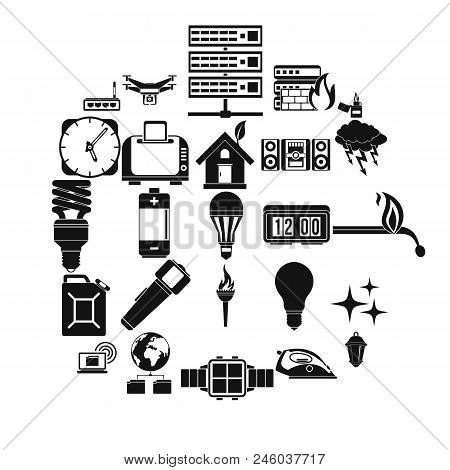 Spare Fuel Icons Set. Simple Set Of 25 Spare Fuel Vector Icons For Web Isolated On White Background