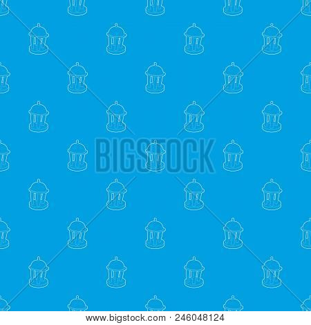 Rotunda Pattern Vector Seamless Blue Repeat For Any Use