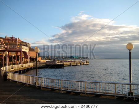 Pier At Puget Sound In Seattle