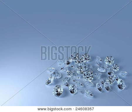 Numerous Diamonds With Copy Space