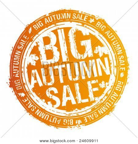 Big autumn sale rubber stamp.