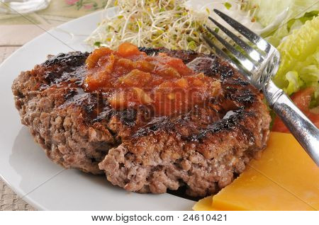 Grilled Ground Beef Patty