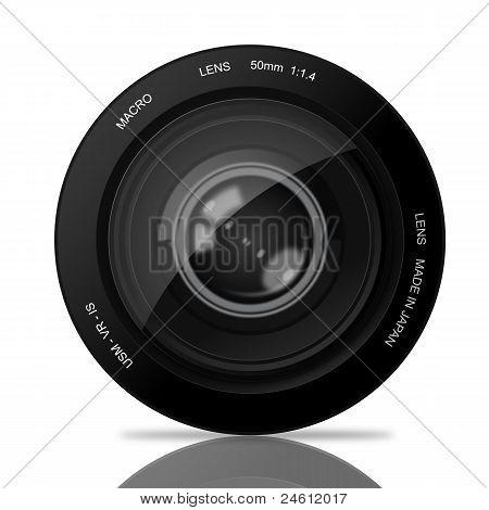 Eye in Camera Lens
