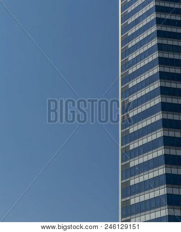 Facade Of Modern Contemporary Building, Office Building, Business Background