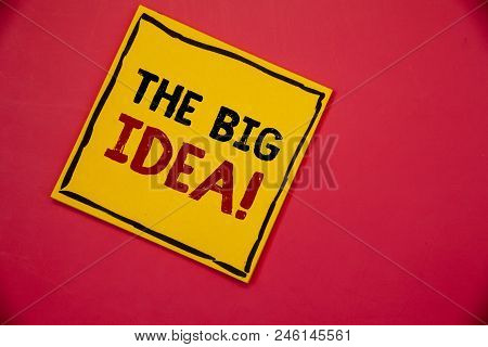 Handwriting Texts Writing The Big Idea Motivational Call. Concept Meaning Have A Successful Idea Sma