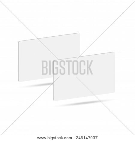 Blank Of Business Card Template. Vector Illustration.