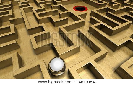 Labyrinth and ball