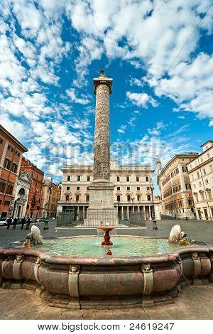 Marco Aurelio Column, Rome, Italy.