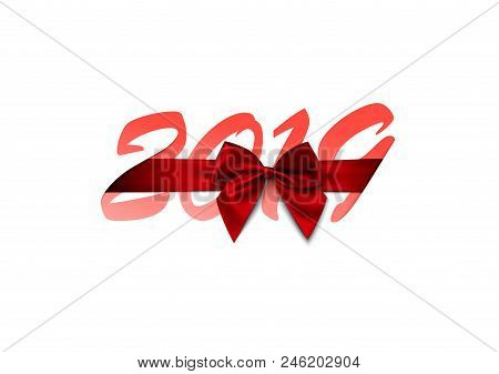 2019 Happy New Year Or Christmas Background Creative Design For Your Greetings Card, Flyers, Invitat