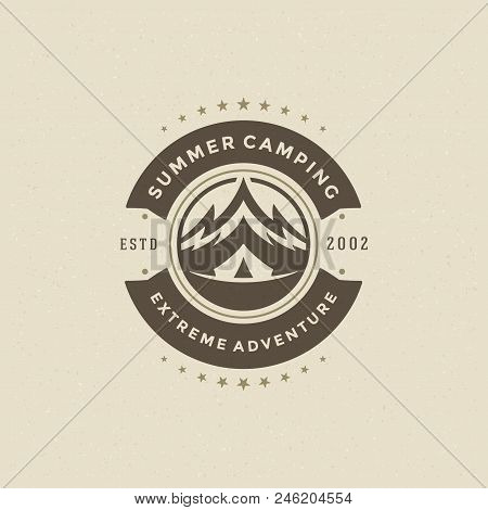 Mountains Logo Emblem Vector Illustration. Outdoor Adventure Expedition, Mountains Silhouette Shirt,