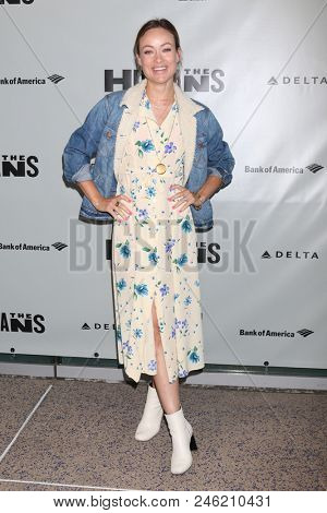 "LOS ANGELES - JUN 20:  Olivia Wilde at the ""Humans"" Play Opening Night at the Ahmanson Theatre on June 20, 2018 in Los Angeles, CA"