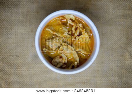 Panaeng Curry With Pork Or Red Curry With Pork (panang Pork)