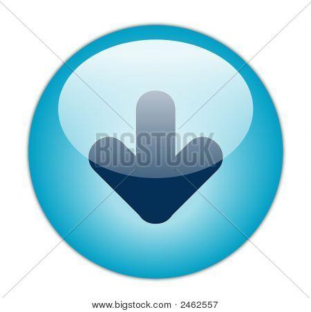 De knoop van het pictogram glazig Aqua blauw downloaden