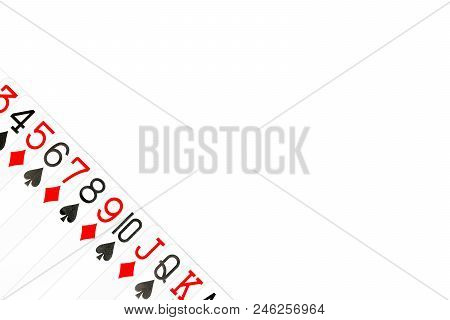 Some Poker Cards Clubs And Diamonds Diagonally