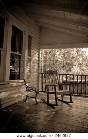 Sepia Old Time Country Porch