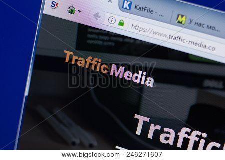 Ryazan, Russia - June 17, 2018: Homepage Of Traffic-media Website On The Display Of Pc, Url - Traffi