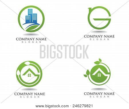 Go  Green Leaf Ecology Nature Element Vector Icon