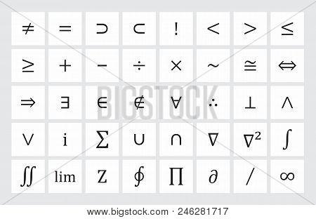 Illustration Of A Set Of Mathematical Symbols