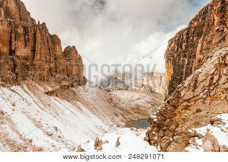 Summer Path To Sella Ronda Dolomites Italy