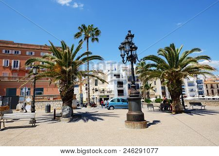Sitges, Spain - May 23: The Tourists Enjoiying Their Vacation In Sitges Town On May 23, 2015 In Sitg